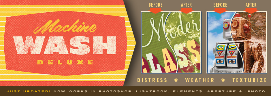 Machine Wash Deluxe Image Filters for Photoshop