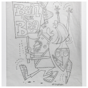 Ban the Bra Pencil Sketch