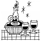 Candlelit Chianti BW