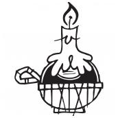 Chianti Lamp BW