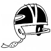 Football Helmet Bk