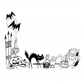 Halloween Border Two Bk