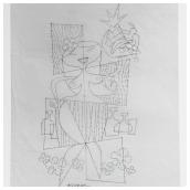 Hula Girl Pencil Sketch