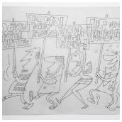 Miniskirts Pencil Sketch