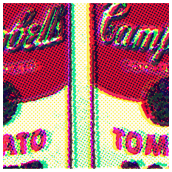 Photo with Offset CMYK Halftone