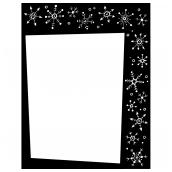 Snowflake Frame Bk