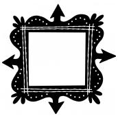 Swirly Frame 3 BW