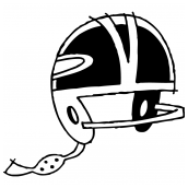 Football Helmet Bk