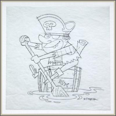 Rum Pirate Original Sketch