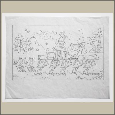 Moai Munchkins Pencil Sketch