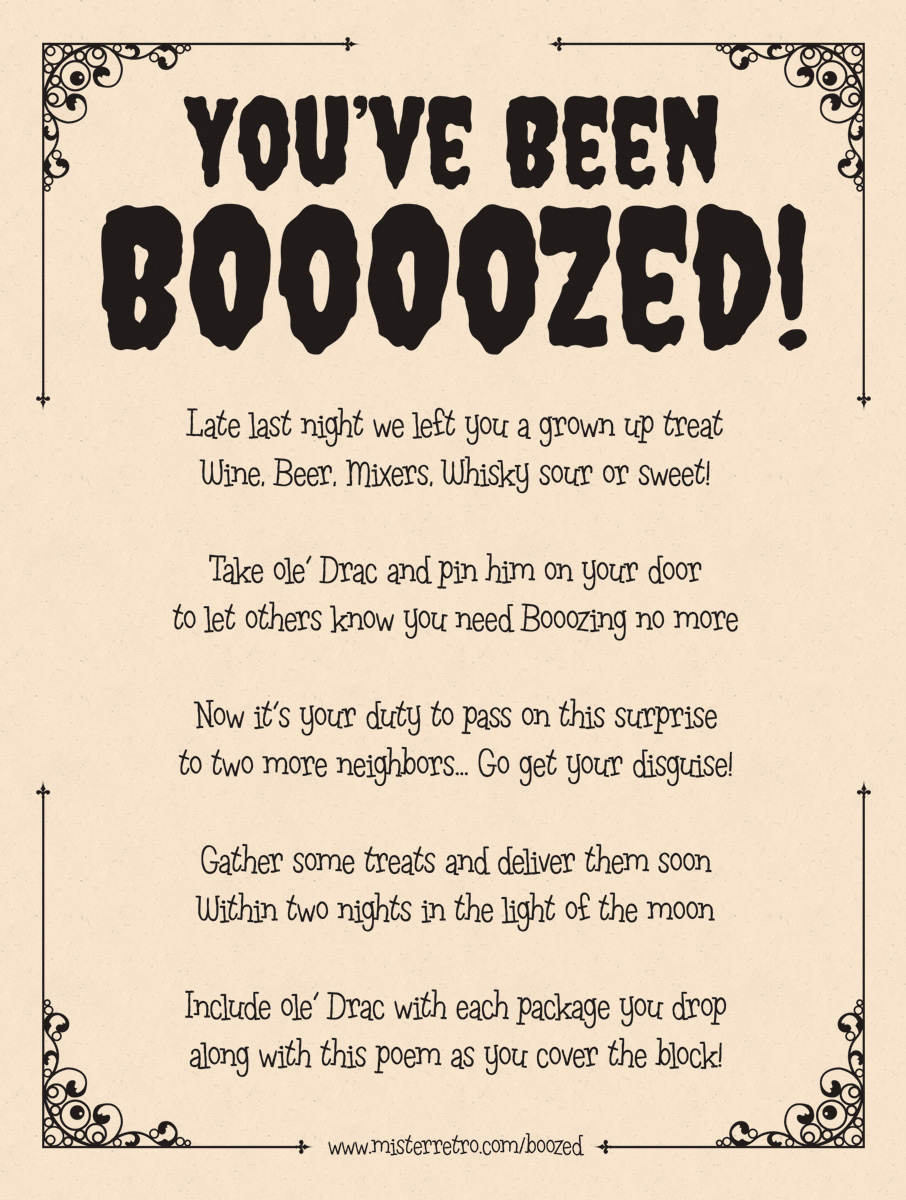 graphic relating to You've Been Boozed Printable called Youve Been Boozed!